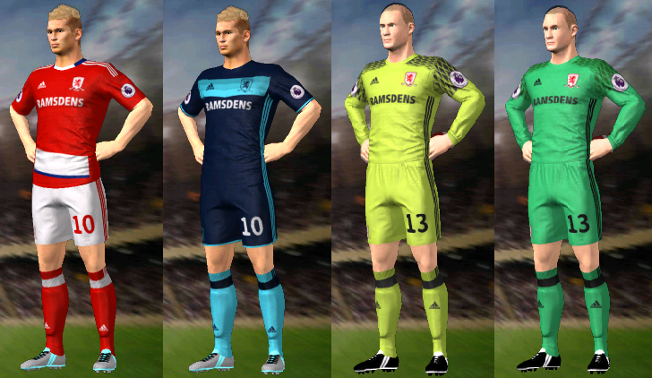 Kits/Uniformes Middlesbrough
