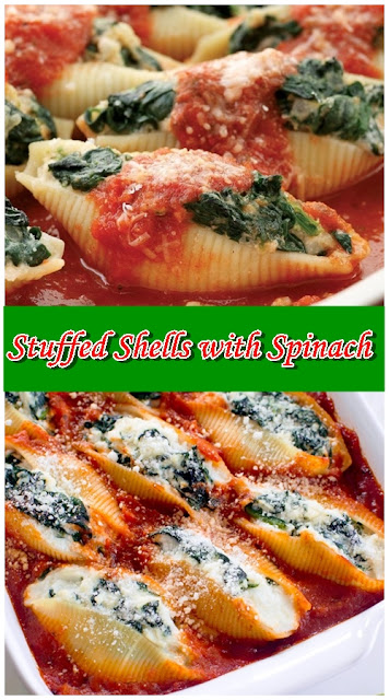 Stuffed Shells with Spinach