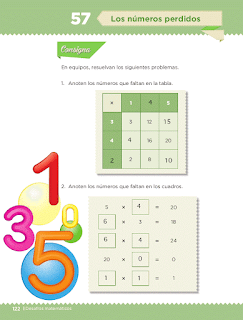 Respuestas Apoyo Primaria Desafíos matemáticos 3ro Grado Bloque IV Lección 57 Los números perdidos