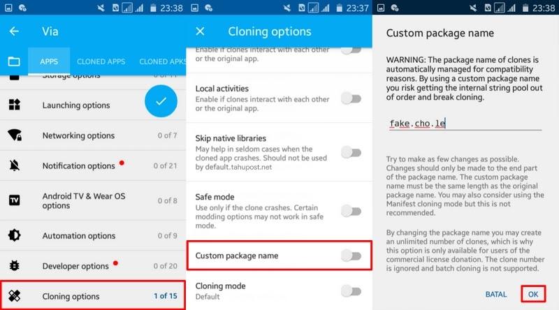 Atur Package Name - Cara Mengubah Aplikasi Android Menjadi Fake Calculator