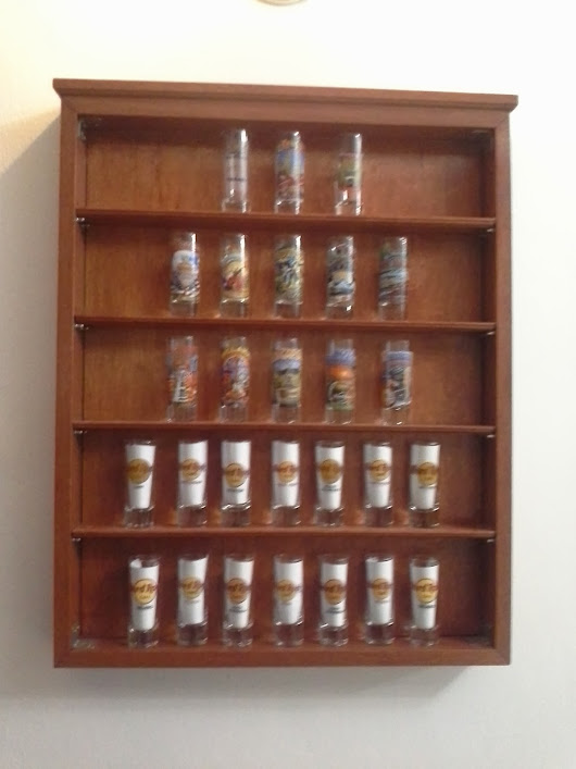 Shot glass display case