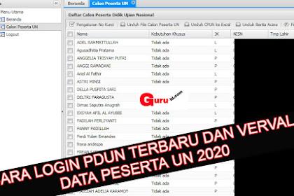 Cara Login Pdun terbaru di http://pdun.data.kemdikbud.go.id/ dan verval Data Peserta UN