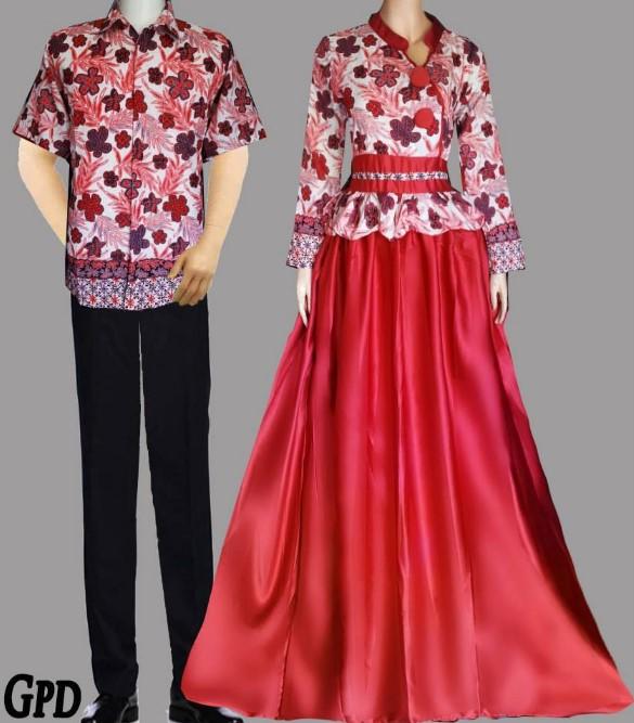 Baju Batik Kombinasi Batik: 10 Model Baju Batik Couple Gamis Elegan Terbaru 2020