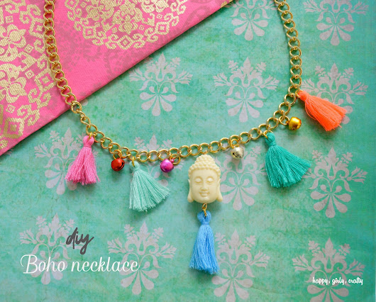 DIY Bohemian chic jewelry with this month's box set from My Vintage charms! - happy  girly  crafty