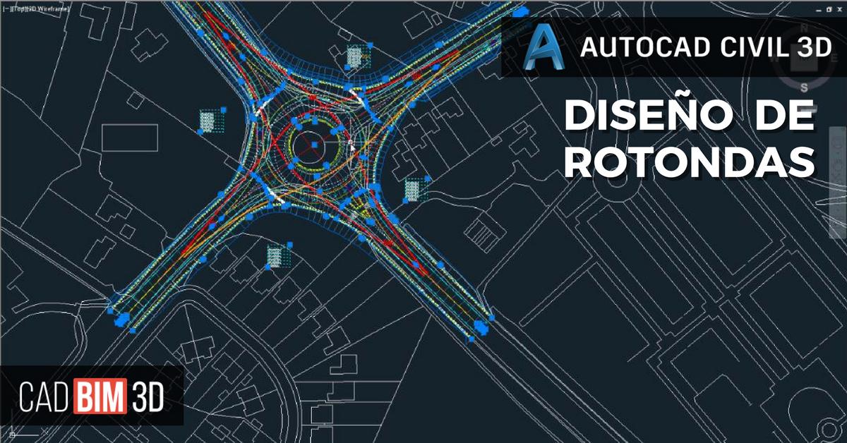 Diseño de rotondas con AutoCAD Civil 3D - cadBIM3D