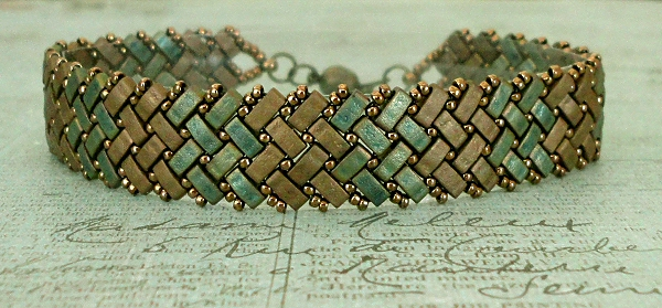Half Tila Herringbone Bracelet Re Make