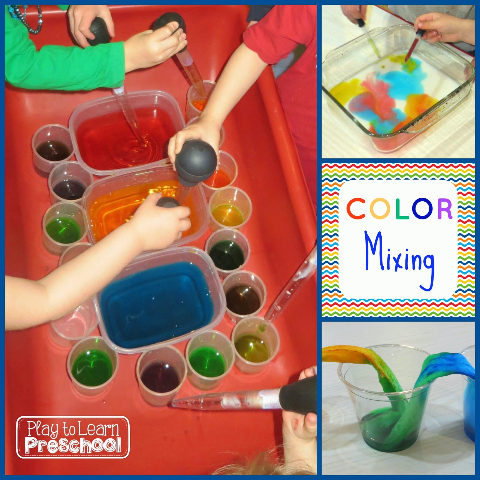 Play To Learn Preschool Mixing Colors