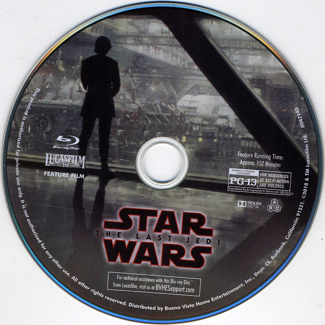 Star Wars: The Last Jedi Blurau Label