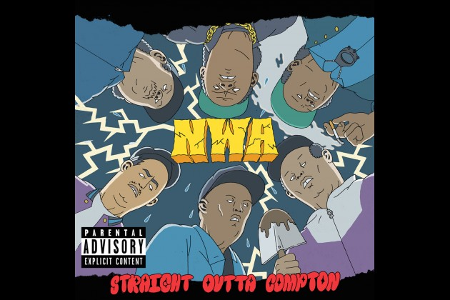 N W A's 'Straight Outta Compton' Album Cover Gets an Artsy Spin