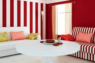 warna cat ruang tamu 2 warna yang keren