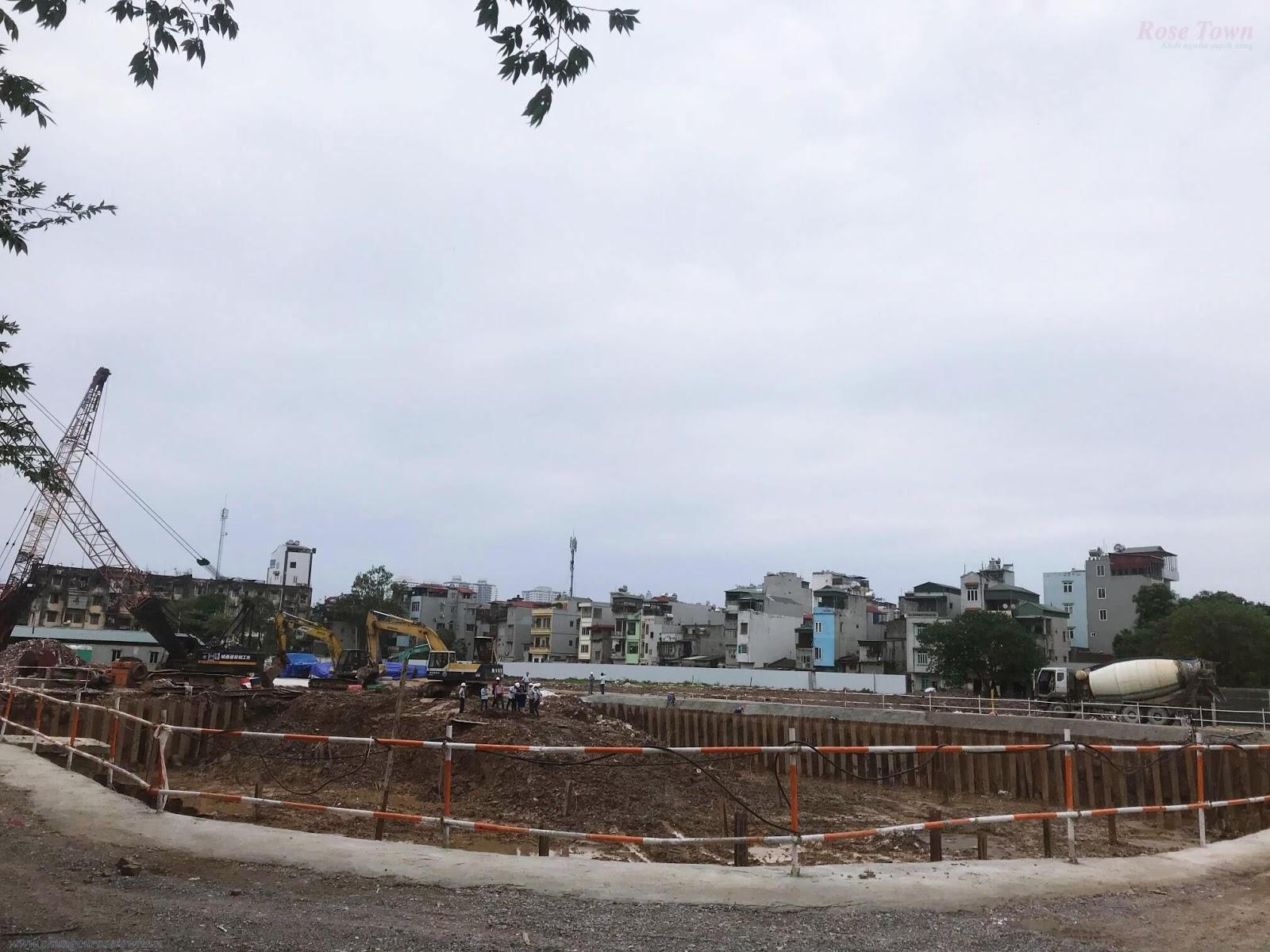 Tiến độ xây dựng mới nhất chung cư Rose Town tháng 9