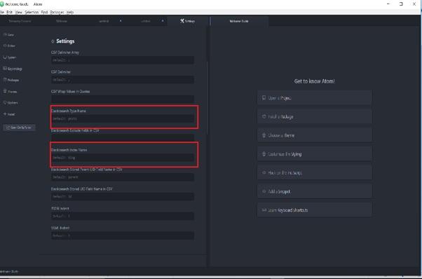 Convert csv to Elasticsearch Bulk import format using Atom Converter