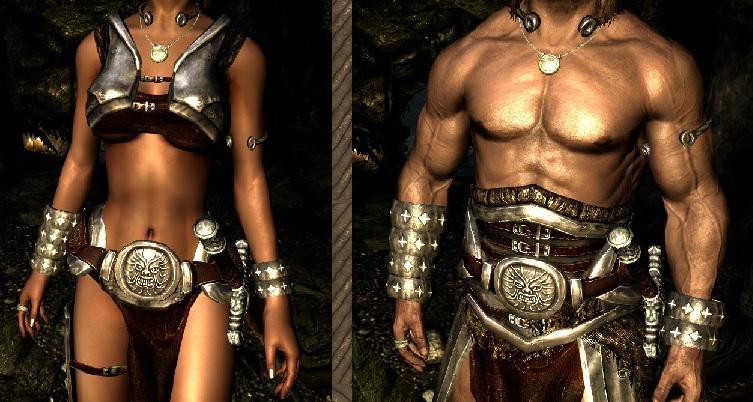 Silver Barbarian Armor [CBBE] ~ Eskyrim