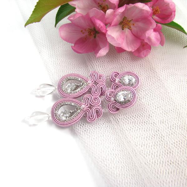Sutaszowa biżuteria ślubna z kryształami Novia Blanca