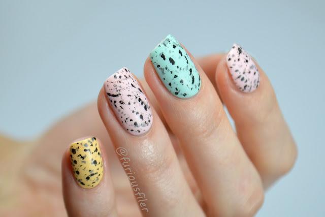 easter egg nails specked egg matte tutorial