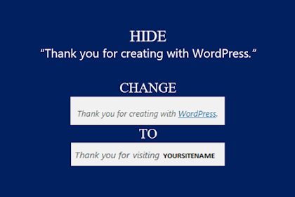 "How to edit or hide ""Thank you for creating with WordPress"" link in WordPress admin pages?"