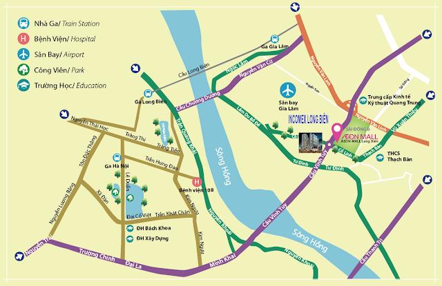 vị trí đầy tiềm năng của dự án Northern Long Biên