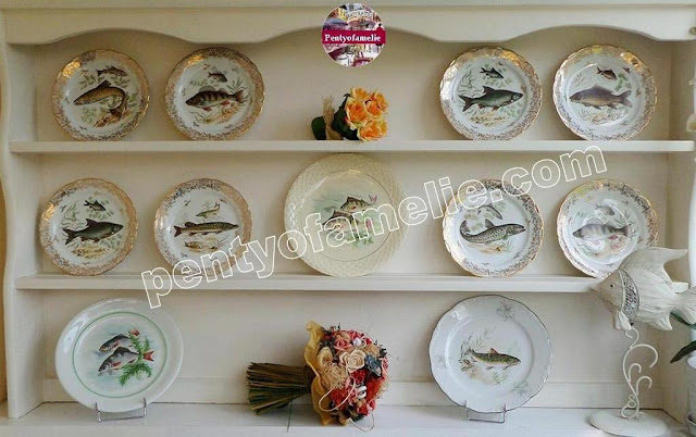 Find out more about french vintage porcelain transferware fish plates