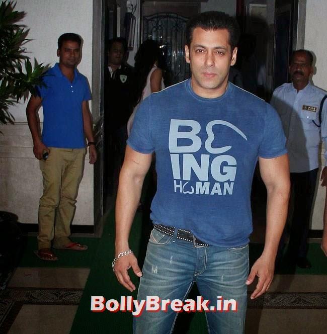 Salman Khan, Salman, Jacqueline at Ek Villain Success Party by Sidharth Malhotra