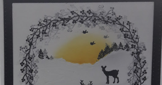 Silhouette Christmas Card