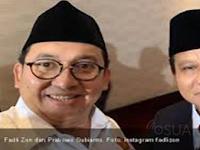 Prabowo : Fadli Zon Cocok Jadi Menteri Pendidikan