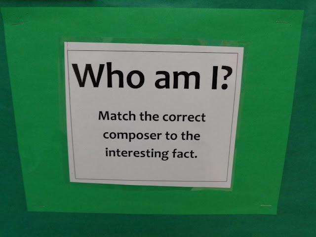 Composer trivia bulletin board elementary orchestra