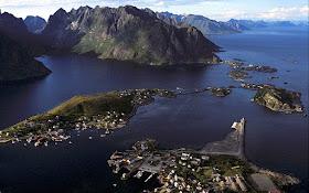 Lototen archipelago aerial view