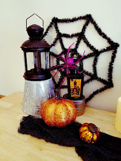 Halloween Decor Lanterns and Pumpkins