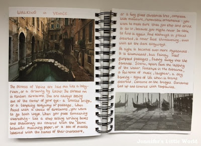 Handwritten holiday vacation journal