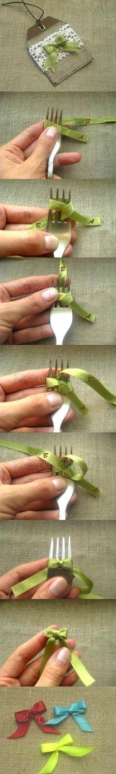 tutorial noeud DIY fourchette