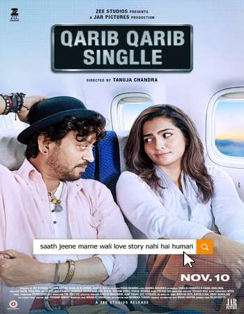 Qarib Qarib Singlle 2017 Hindi 180MB DVDRip HEVC Mobile ESubs