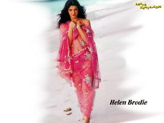 Helen Brodie Legs Show In Pink Transparent Dress