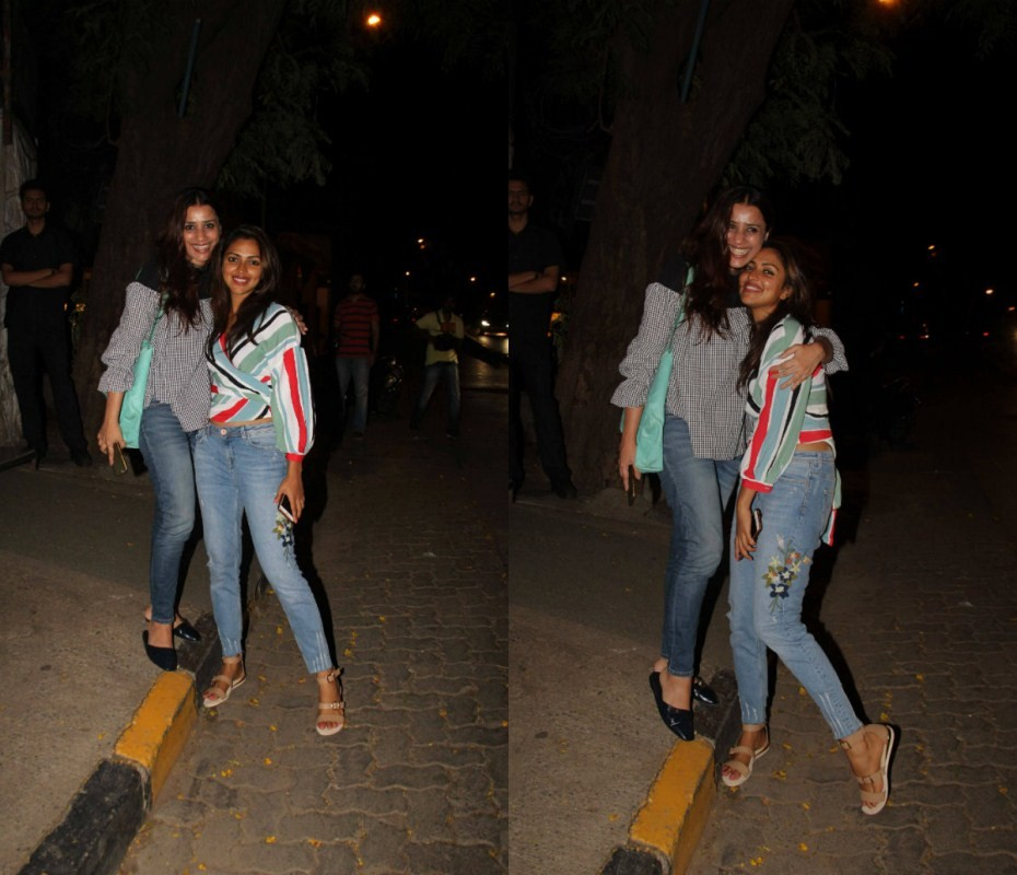 Amala Paul Spotted with Producer Ashvini Yardi at Bandra