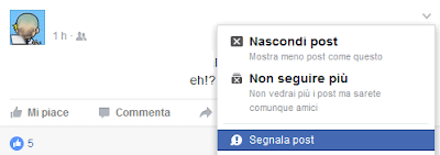 Come segnalare un post su Facebook