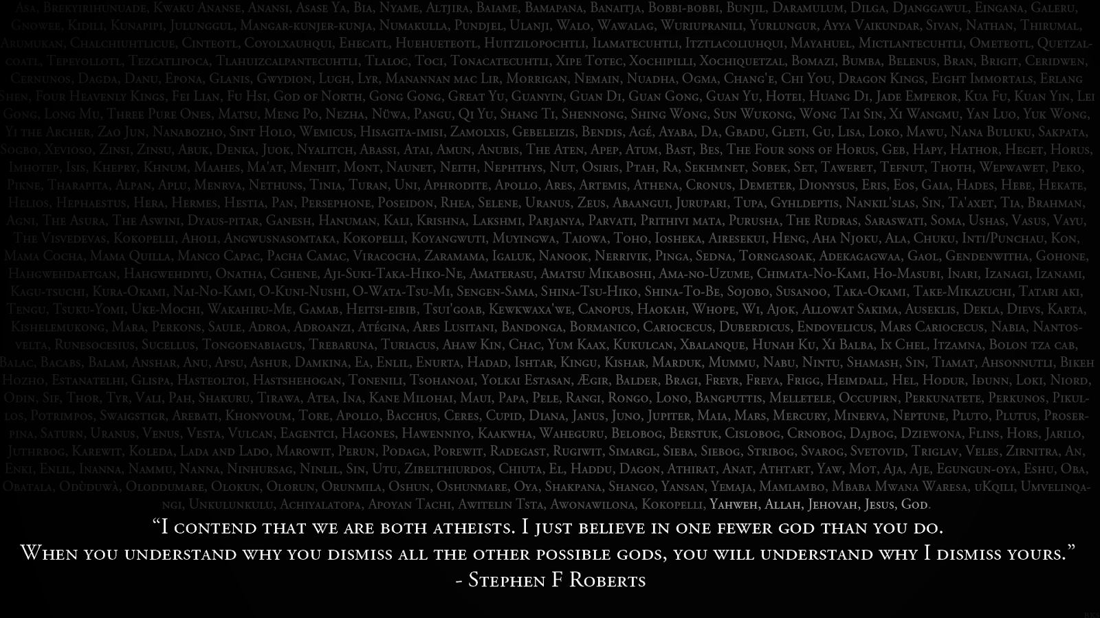 I contend that we are both atheists quote picture