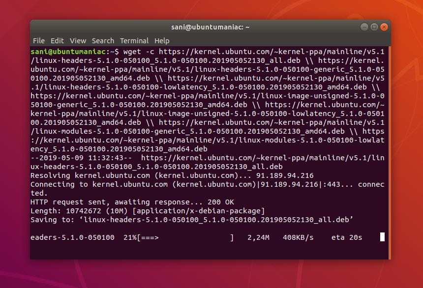 Install Linux Kernel 5 1 stable on Ubuntu and Linux Mint