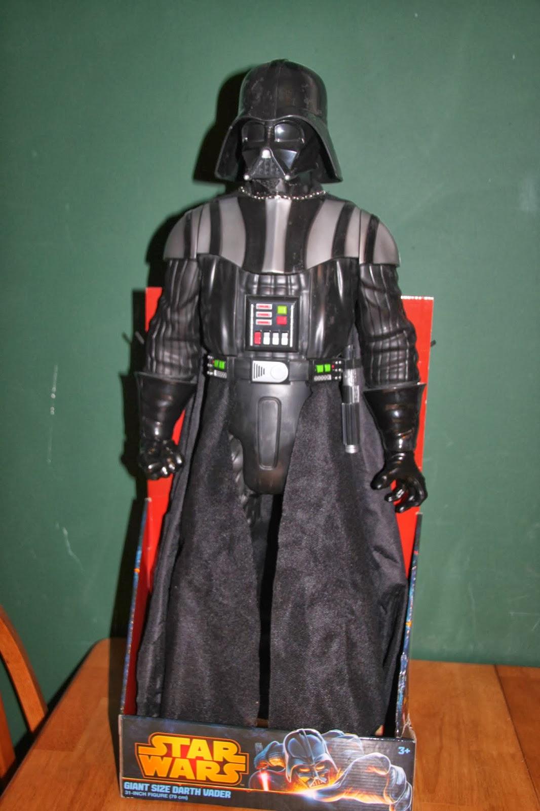 """Figure Par Jakks Pacific Star Wars Giant Size Darth Vader Large 31/"""" pouces 79 cm"""