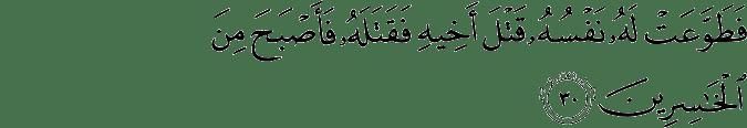 Surat Al-Maidah Ayat 30