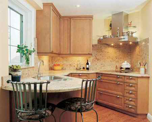 Home Design: Small Kitchen For Small Space Design And