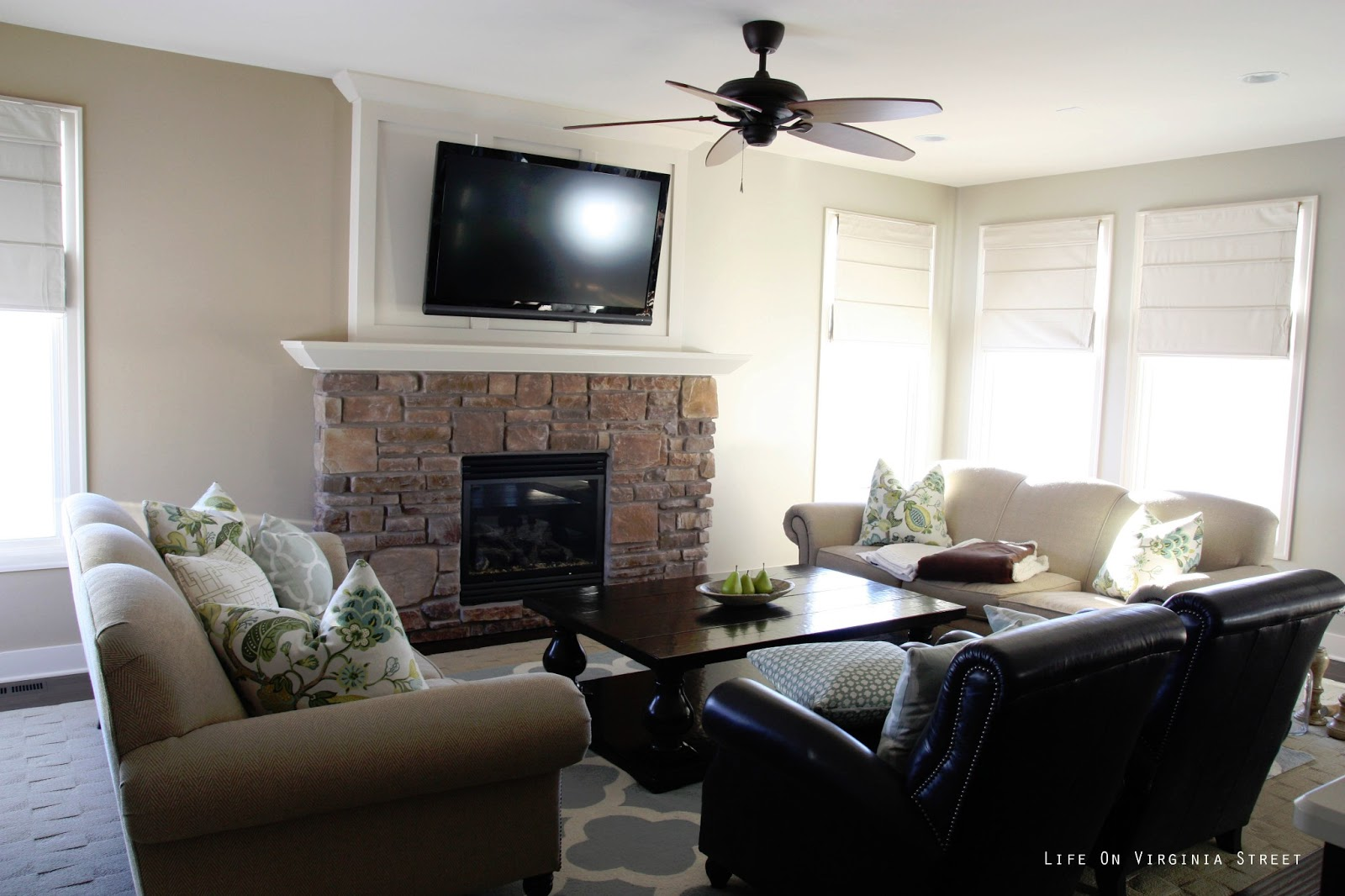 Painting the Living Room: Behr Castle Path - Life On ...