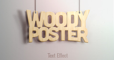 efecto texto madera
