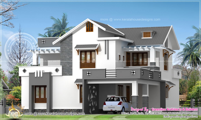 single floor home with center car porch indian house plans | ideasidea