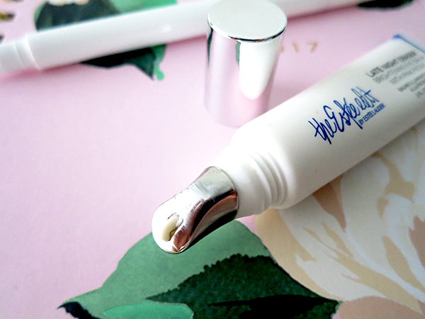 Cooling metal applicator tip on The Estee Edit by Estee Lauder Late Night Eraser Brightening Eye Balm with Pink Peony