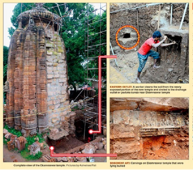 Remnants of 11th century temple found in Bhubaneswar