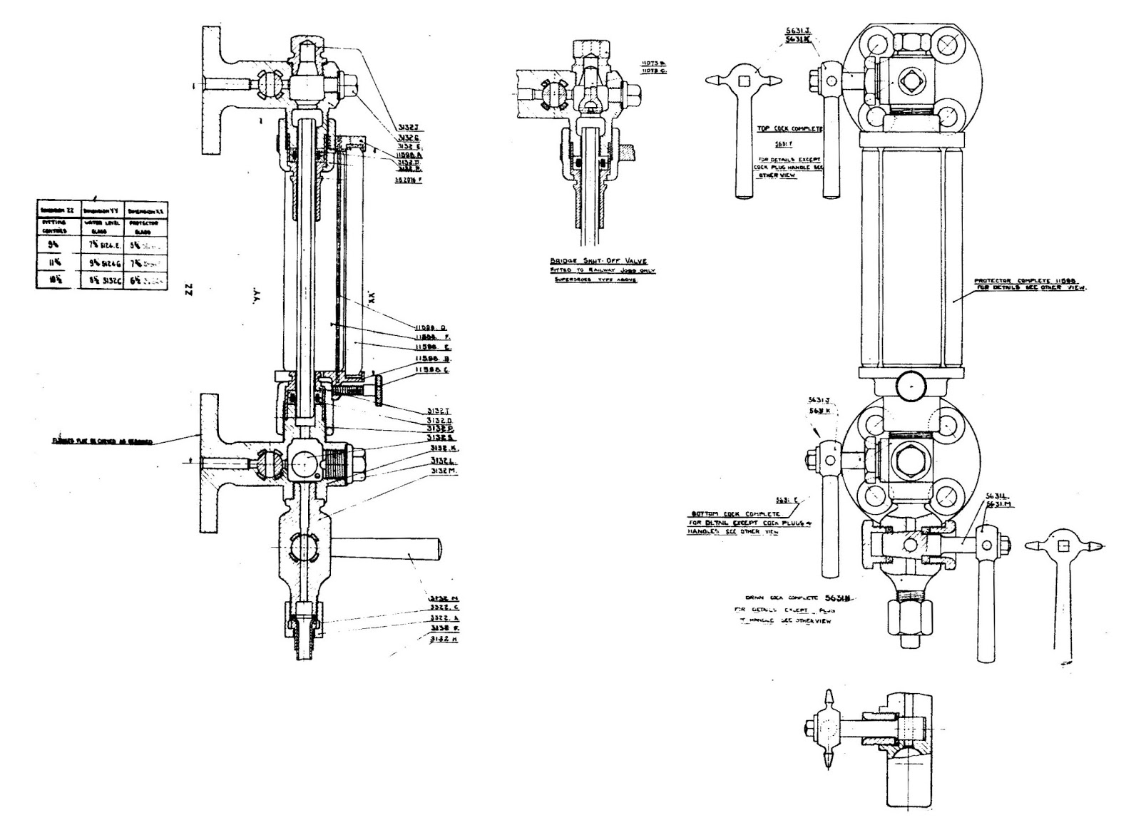 hight resolution of gauge glass valve arrangement similar to 7109 s