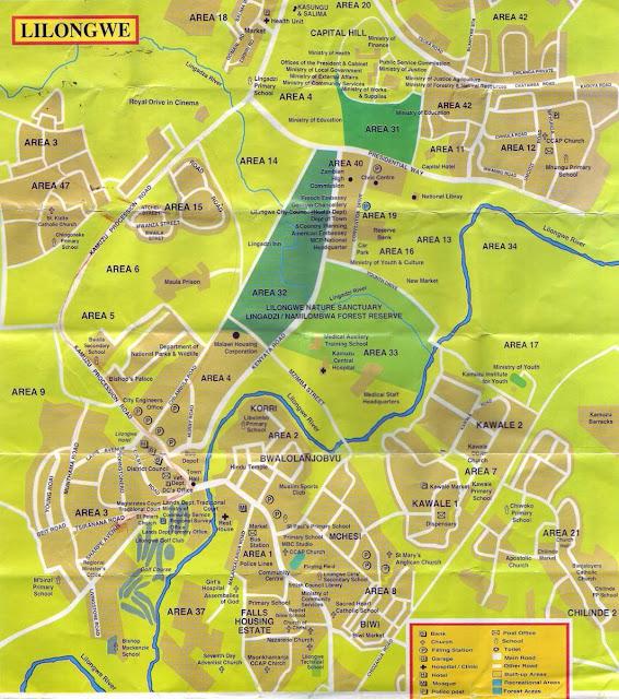 Mapa de Lilongwe – Malawi
