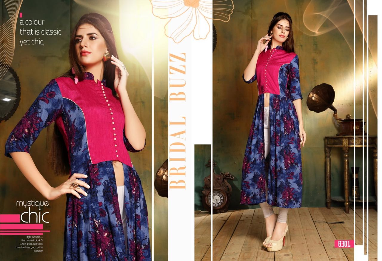 Rayon Printed Stylish And Fancy Kurti Exporter