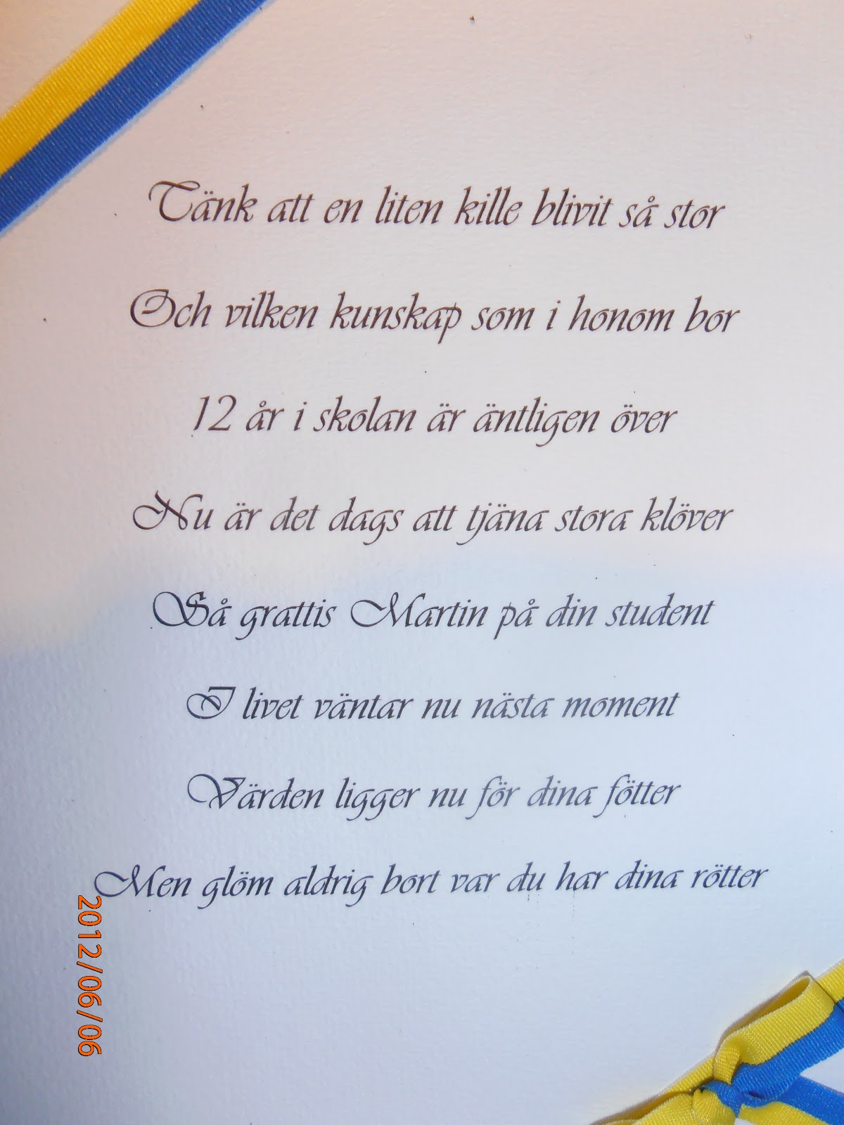 grattis på studenten dikt Rosita´s Scrap4Fun: Studentkort grattis på studenten dikt