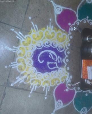 Rangolis for Ganesh Jayanti