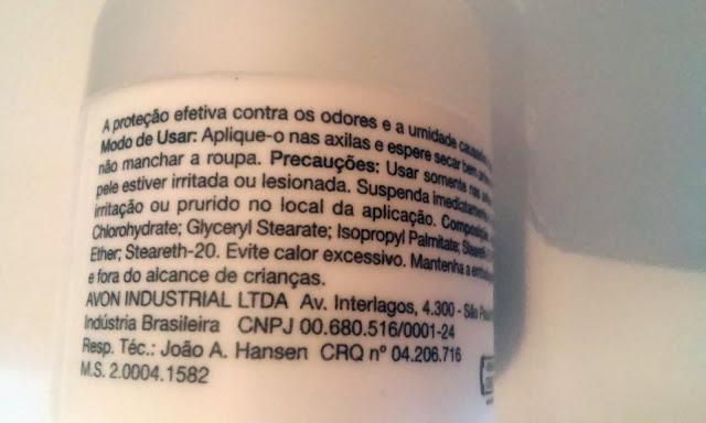 Achegue-se! Comprei e não gostei: Desodorante antitranspirante creme - sem perfume Avon